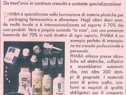 "PHABA  on ""Sole 24 ore"""