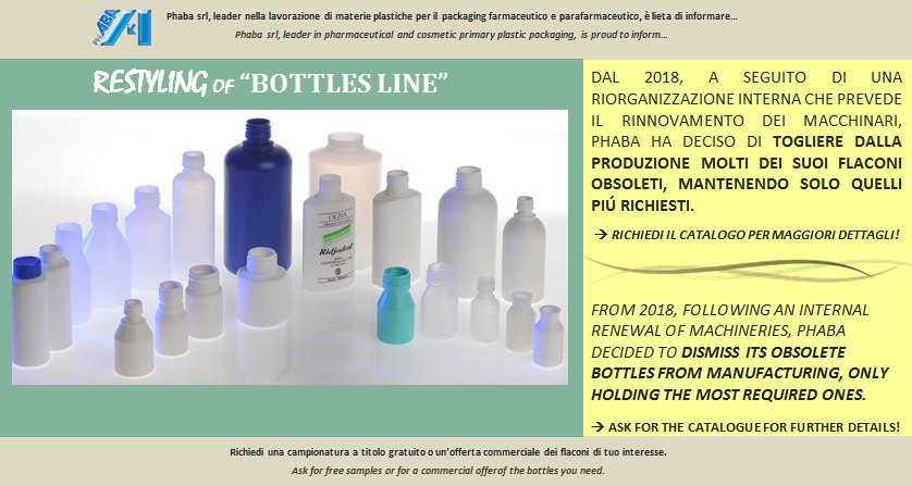 "Restyling ""Bottle"" line"