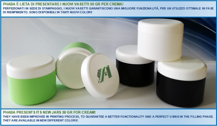 NEWS ON CREAM JARS 50GR!