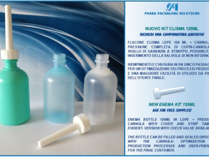 Nuovo packaging per clismi 120 ml