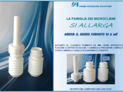 Microclismi: nuovo formato da 6 ml!