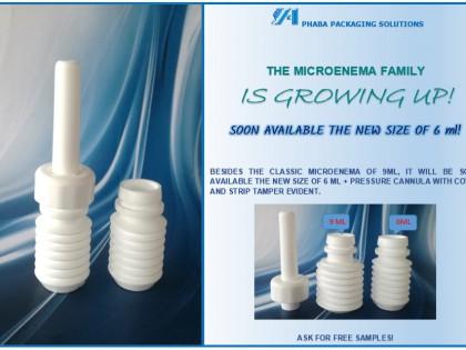 Micro enema: new size 6 ml!